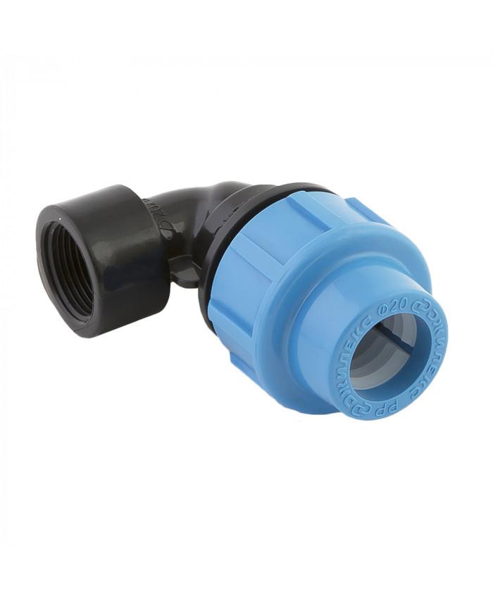 Отвод   с внутренней трубной резьбой 20х1/2 дюйма
