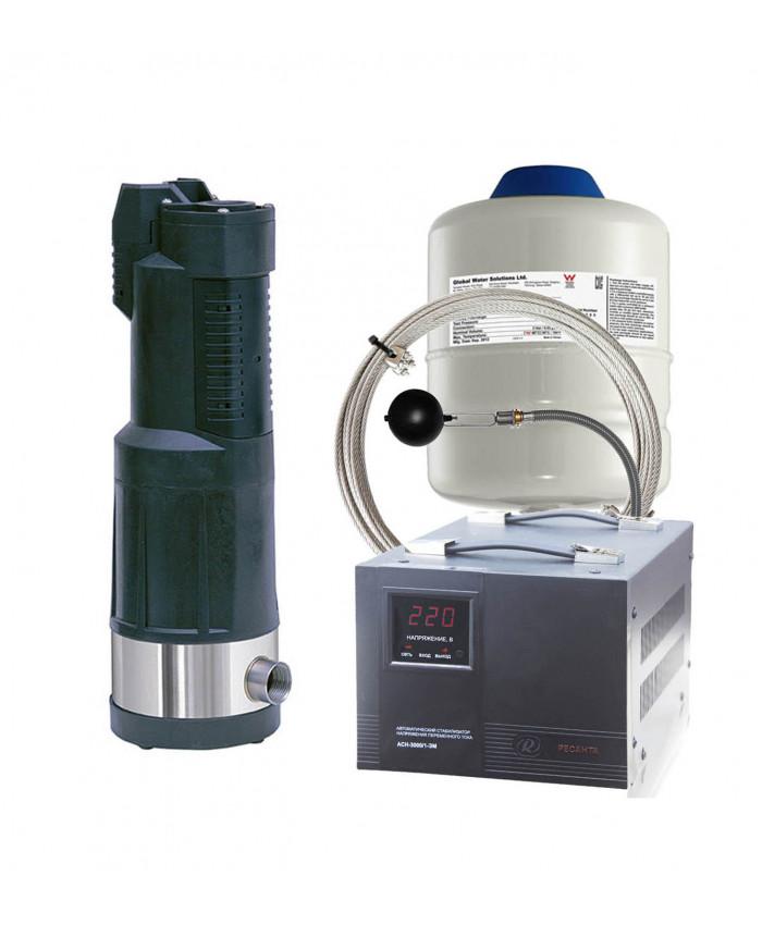 Насос колодезный DAB DIVERTRON X 1000 M + поплавок + бак + трос + стабилизатор